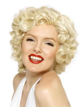Ladies Marilyn Monroe Fancy Dress Wig Deluxe - Blonde